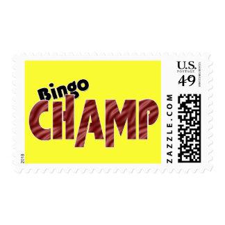 Bingo Champ Vegas Style Bright Postage Stamps