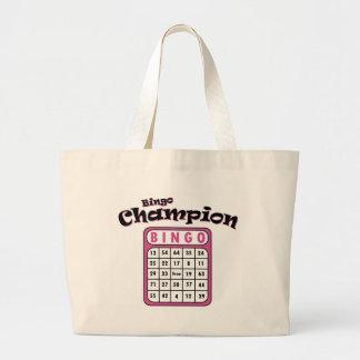 Bingo Champion Large Tote Bag