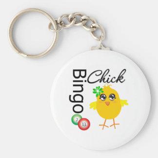 Bingo Chick Basic Round Button Keychain