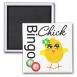 Bingo Chick Refrigerator Magnets