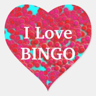 Bingo Chips on Heart-Shaped Stickers