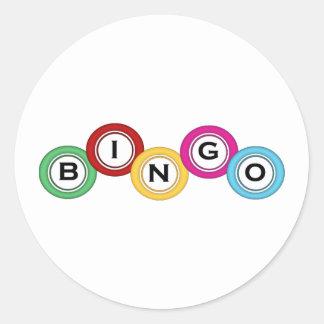 Bingo Classic Round Sticker