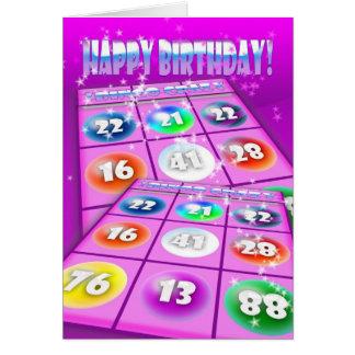 Bingo Crazy Birthday Card