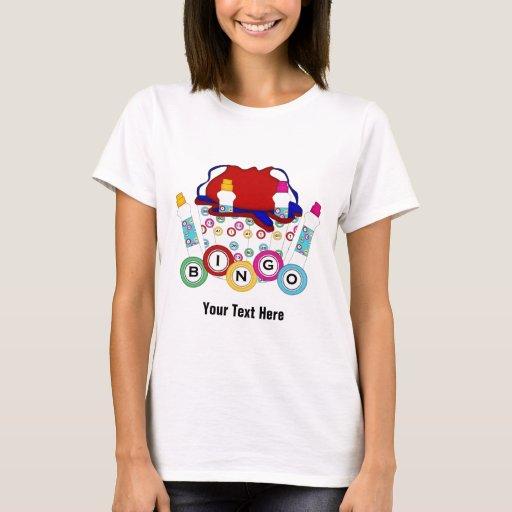 Bingo customizable t shirt zazzle for Zazzle custom t shirts