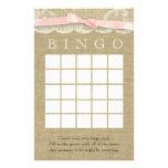 Bingo de la ducha del cordón y del arco del vintag papeleria personalizada