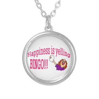 Bingo de la felicidad colgante redondo