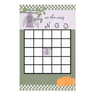 Bingo de la fiesta de bienvenida al bebé de Hallow Papeleria De Diseño