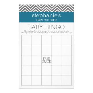 """Bingo de la fiesta de bienvenida al bebé - trullo folleto 5.5"""" x 8.5"""""""