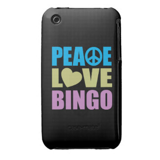 Bingo del amor de la paz iPhone 3 Case-Mate carcasa