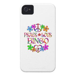 Bingo del amor de la paz iPhone 4 funda