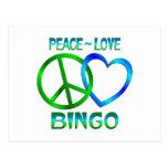 BINGO del amor de la paz Postal