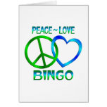 BINGO del amor de la paz Tarjetón