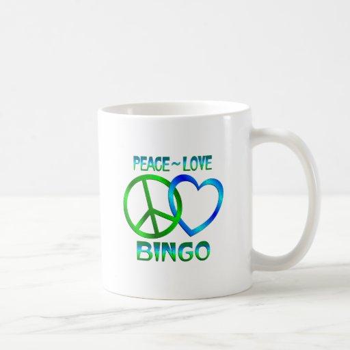 BINGO del amor de la paz Taza De Café