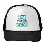Bingo del amor del amor gorras
