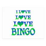 Bingo del amor del amor tarjetas postales