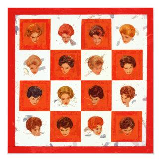 Bingo del color del pelo invitación 13,3 cm x 13,3cm