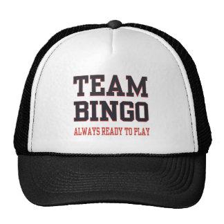 Bingo del equipo - aliste siempre para jugar gorro de camionero