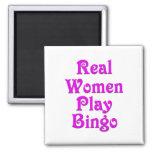 Bingo del juego de las mujeres reales imán cuadrado