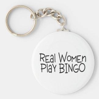 Bingo del juego de las mujeres reales llavero redondo tipo pin