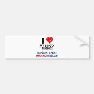 ¡BINGO! ¡Diseños del bingo para el jugador fabulos Pegatina Para Auto