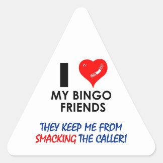 ¡BINGO! ¡Diseños del bingo para el jugador Pegatina Triangular