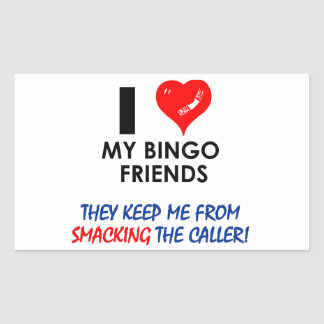 ¡BINGO! ¡Diseños del bingo para el jugador Pegatina Rectangular