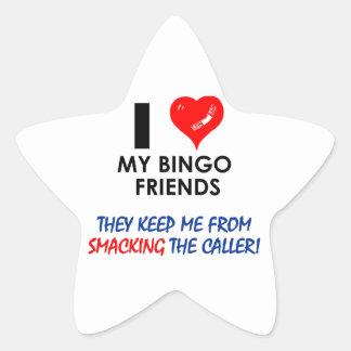 ¡BINGO! ¡Diseños del bingo para el jugador Pegatina En Forma De Estrella