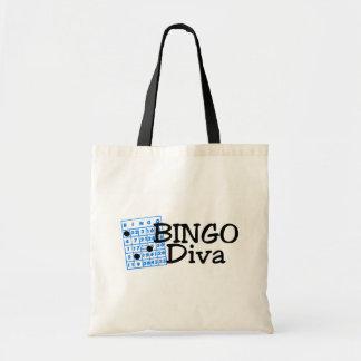 Bingo Diva Tote Bags