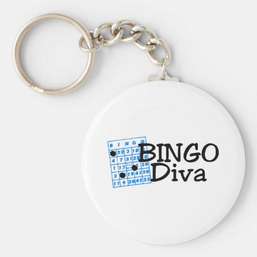 Bingo Diva Keychain