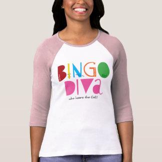 Bingo Diva Ladies 3/4 Sleeve Raglan (Fitted) T-shirts