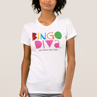 Bingo Diva Ladies Casual Scoop T-Shirt