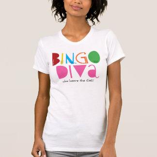 Bingo Diva Ladies Casual Scoop Tshirt