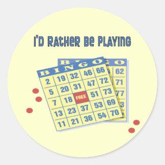 Bingo: Estaría jugando bastante Pegatina Redonda