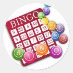 Bingo Etiqueta Redonda