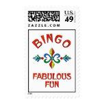 Bingo Fabulous Fun Postage Stamp