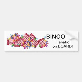 BINGO Fanatic on BOARD Bumper Sticker