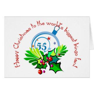 Bingo fan's Christmas card