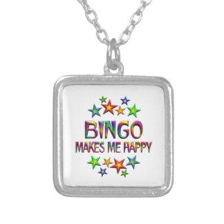 Bingo feliz colgante cuadrado