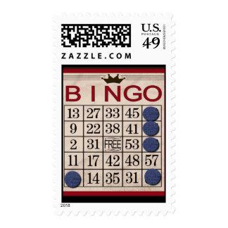 BINGO Funny Game Postage Stamp