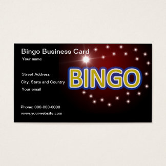 Bingo game business card