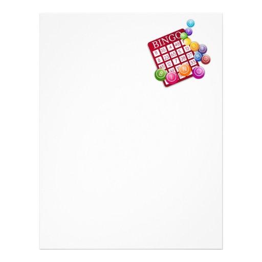 Bingo Game Personalized Letterhead