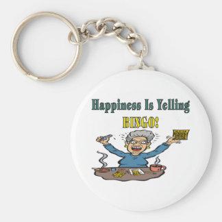 Bingo: Happiness Is Basic Round Button Keychain