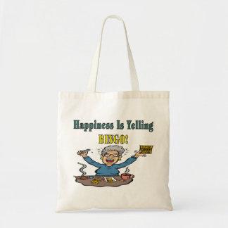 Bingo: Happiness Is Canvas Bags