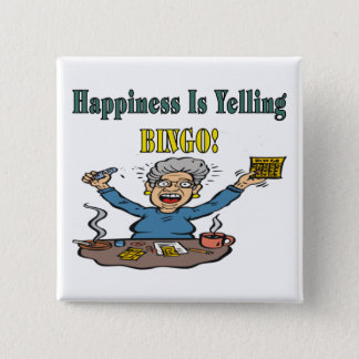 Bingo: Happiness Is Pinback Button
