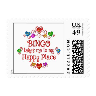 Bingo Happy Place Postage Stamp