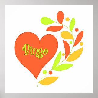 Bingo Heart Poster