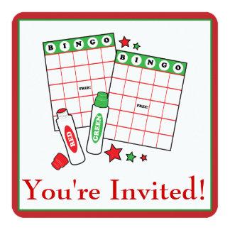 Bingo Holiday Party Card