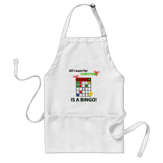BINGO I want a bingo  for Christmas Adult Apron