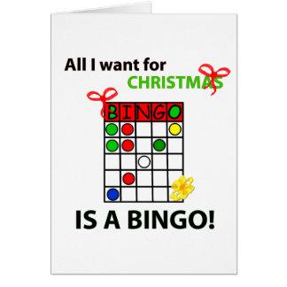 BINGO I want a bingo  for Christmas Greeting Card