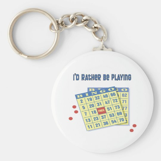 Bingo: I'd Rather Be Playing Keychain